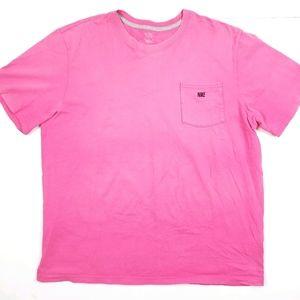 VTG 90's 00's Hot Pink Embroidered Nike Logo Shirt